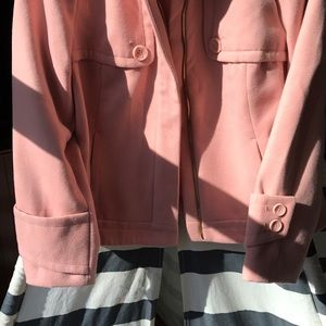 Chico's Jackets & Coats - Champagne Pink Winter Moto Jacket M/L
